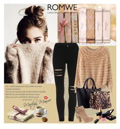 """""""Romwe 10/V"""" by merima-p ❤ liked on Polyvore featuring Jessica Simpson, Chanel, women's clothing, women, female, woman, misses and juniors"""