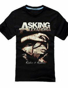 6f04d8f7f10f12 Asking Alexandria T Shirts Reckless   Relentless Death Metal Men Tees-  Asking Alexandria