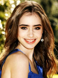 Lily Collins | Photoshoot | Pretty in Blue