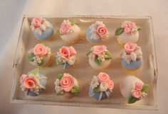 Dollhouse Miniature  Shabby Chic Cupcakes  by gillianokelley, $14.95