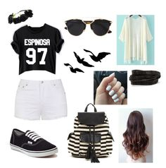"""Matt Espinosa"" by magc0n123 ❤ liked on Polyvore featuring Ally Fashion, Vans, Poverty Flats, Christian Dior and Pieces"