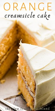 Baking Recipes, Cake Recipes, Dessert Recipes, Orange Creamsicle Cake Recipe, Easy Desserts, Delicious Desserts, No Bake Treats, Homemade Cakes, Let Them Eat Cake