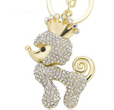 Crown Poodle Dog Crystal Key Ring Chains for Bag Buckle Pendant Car Keys Enrich your shopping list wisely at . Crown Poodle Dog Crystal Key Ring Chains for Bag Buckle Pendant Car Keys Crystal Crown, Crystal Rhinestone, Crystal Keychain, Dog Keychain, Crown Pattern, Key Rings, Jewelry Sets, Great Gifts, Bling