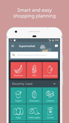 Smart and easy shopping planning   #grocery #shoppinglist #app #grocerylist #recipes #switzerland #zurich