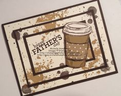 Stamping with Shelle.  Perfect Blend Father's Day Triple Time Stamping Card.  #stampinup