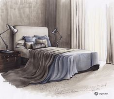 Slaapkamer   Interior Sketch