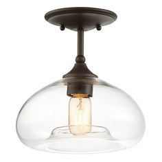 You'll love the Salter 1-Light Semi Flush Mount at AllModern - With Great Deals on modern Lighting products and Free Shipping on most stuff, even the big stuff. Bronze Huilé, Bronze Finish, Color Bronze, Nickel Finish, Decor Pillows, Flush Mount Lighting, Do It Yourself Home, Kitchen Lighting, Farmhouse Lighting