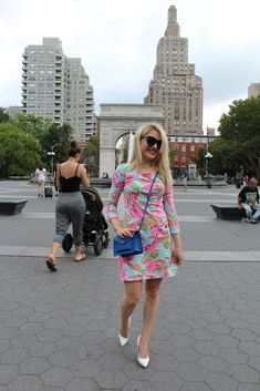 floral work dress Caitlin Hartley of Styled American http://styledamerican.com/floral-work-dress/