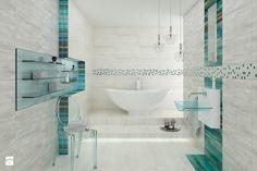 Laterizio / Lateriz - Mała łazienka w domu jednorodzinnym jako salon kąpielowy z oknem - zdjęcie od Ceramika Paradyż