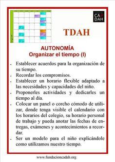 Organizar el tiempo TDAH