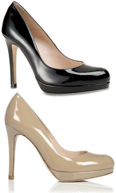 Part of the L.K.Bennett Signature Collection. A sleek, versatile platform in a modern patent leather. Perfect for work and great for the evening, the Sledge leather court has a round toe and a natural leather sole.    http://www.lkbennett.com/shoes/courts/CCSLEDGE214PATENT