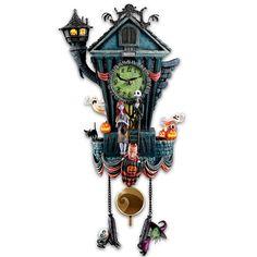 Amazon|Cuckoo Clock: Tim Burton's The Nightmare Before Christmas Wall Clock ティム・バートン ナイトメアー カッコウ時計 Bradford Exchange社【並行輸入】|置き時計・掛け時計 オンライン通販