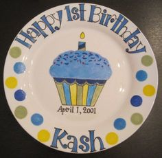 Birthday plate- would be cute to make one every year