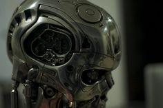 Ogrm терминатор T800 бюст 1:1 желез размер бюст рисунок из светодиодов глаз лучшее качество T 800 T2 боевой ветеран реплика смола эндоскелет купить на AliExpress