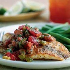 Red Snapper Vera Cruz - Lisa Cooking  www.facebook.com/SkinnyBySylvia http://theskinnybysylvia.eatlessfeelfull.com/