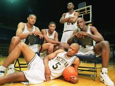 An athletic force to be reckoned with, check out this excerpt about the Fab 5 domination of college athletics! Basketball Jones, College Basketball, Basketball Wall, Basketball Court, Basketball Legends, Basketball Players, Basketball Uniforms, Nba Players, Soccer Cleats