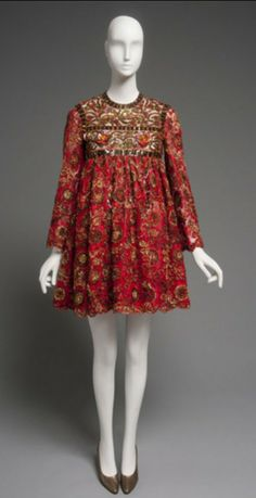 Geoffrey Beene - Dress 1968-69. Silk net with sequins and appliqués