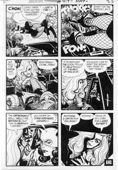 Alex Toth Black Canary Adventure 419 pg in Gary Land's Alex Toth Memorial Gallery Comic Art Gallery Room - 573751 Comic Book Artists, Comic Book Characters, Comic Artist, Comic Books Art, Comic Book Layout, Comic Frame, Jordi Bernet, Alex Toth, Bd Comics