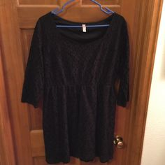 Black lace, 1/4 sleeve Xhilaration dress This dress falls just above the knees. Dress it up with heels or make it casual with sandals. Xhilaration Dresses Long Sleeve