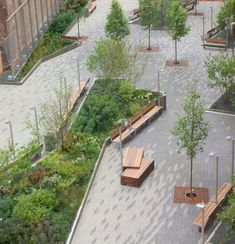 "afotw:  "" Beekman Plazas, by James Corner Field Operations and Piet Oudolf, in Manhattan, New York City.  """