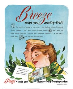 1953 Breeze Soap ad. #vintage #1950s #beauty #ads