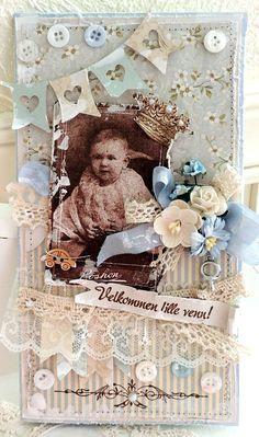 Stempelglede :: Design Team Blog. Rubber stamps used for this project: Vintage Baby and Velkommen lille venn stamp sets. 2014 © Merete Kildahl Jaklin