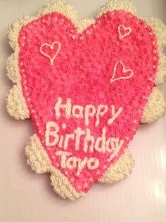 Valentine Birthday Cupcake Cake