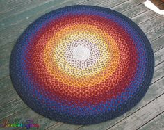 A #technicolor Braided Rug made from recycled T-shirts!