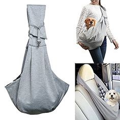 OWNPETS Pet Sling Carrier Small Dog Cat Sling Pet Carrier Bag Safe, Comfortable, Reversible, Machine Washable ,Double-sided Pouch Shoulder Carry Tote Handbag Small Pet Carrier for Pets below 6.6 LB
