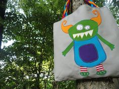 Cute Monster Tote. $65.00, via Etsy.