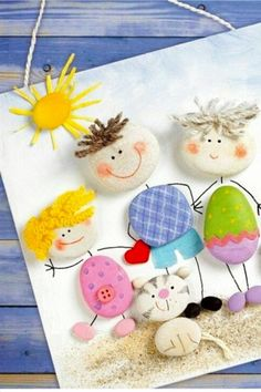 Cute summertime craft for kids!  See more summer crafts and activities on this page