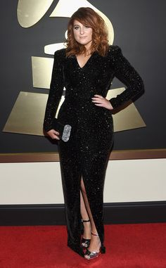 Meghan Trainor from Grammys 2016: Red Carpet Arrivals  In Michael Costello