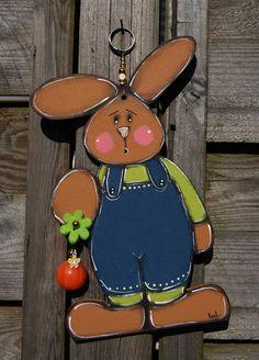 Eastern bunny hanging to the door - Spring decoration de la boutique LULdesign sur Etsy