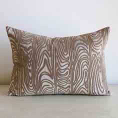 Beaded Faux Bois Pillow – www.SummerHouseStyle.com
