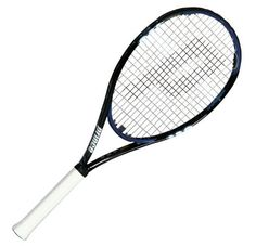Prince O3 Hybrid Shark Tennis Racquet - 100 in. Head (4 1/4) by Prince. $100.76. **THIS RACQUET SHIPS UNSTRUNG**  Weight Strung:315g/(11.1 oz.)  //  Swing Weight: 322 //  Swing Type: Moderate to Full Strokes. Manuf. Recommended String: Lightning XX  //  Color: Black, Blue, and White.  Code:  RPR1003.