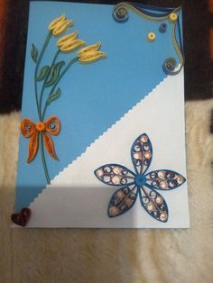 Quilling card for my grandma. :D