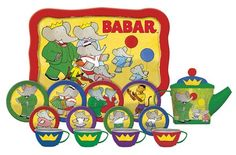 Babar Tin Tea Set by Schylling 231249 for sale online Tea Sets For Sale, Tea Timer, Small Teddy Bears, Pretend Play Kitchen, Perfect Cup Of Tea, Ugly Dolls, Tea Gifts, Retro Toys, Tea Accessories