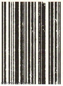 *Tim Holtz Cling Rubber ATC Stamp STRIPES Stampers Anonymous