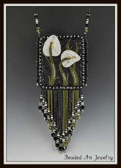 Calla Lily Pouch by Beaded Art Jewelry, via Flickr