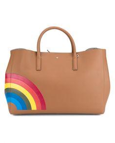 ANYA HINDMARCH Rainbow Maxi Ebury Handbag. #anyahindmarch #bags #hand bags #suede #tote #lining #