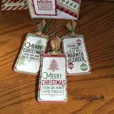 Stampin Up' - 2016 Holiday Catalog - Wrapped in Warmth - Christmas - Gift Tags - i♥Cards2
