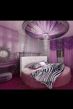 Amazing purple bedroom
