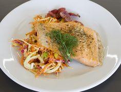 Filet de truite et salade de légumes racines