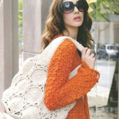 Patrón Bolso Crochet. Crochet Art, Love Crochet, Crochet Patterns, Crochet Handbags, Crochet Purses, Knitted Bags, Crochet Accessories, Free Knitting, Couture