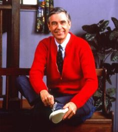 Fred Rogers was an ordained Presbyterian Minister that had a television show for children called Mr. Rogers Neighborhood as his ministry. Fred Rogers, Rogers Tv, Gym Memes, Gym Humor, Workout Humor, Fitness Humor, Crossfit Memes, Funny Fitness, Exercise Humor
