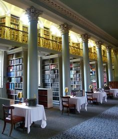 Pommery bar in the Signet Library, Edinburgh- Champagne & Books! Take me here NOW