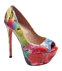 Omg, these platforms have completely stolen my heart! Love the colors/print!! #BetseyJohnson