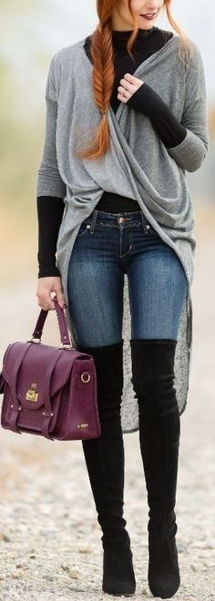 Grey + Black + Denim                                                                             Source