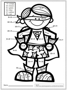 Double-Digit Addition Coloring Worksheets | four digit addition ...