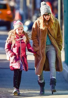 I wanna hold your hand: Sarah Jessica Parker walked one of her twin daughters to school on...